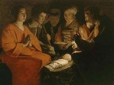 L'Adoration des bergers-Georges de La Tour-Giclee Print