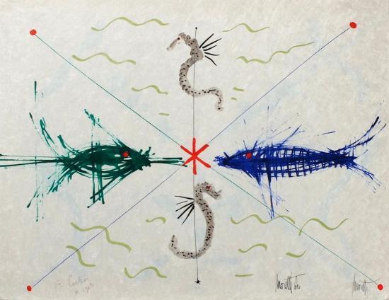 L'âge du verseau : poissons et hyppo-Jean Cocteau-Premium Edition