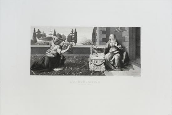 L'annonciation-Leonardo da Vinci-Collectable Print