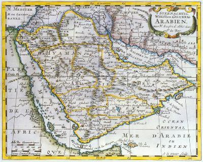 L'Arabie Petree Deserte et Heureuse, 1652-Nicolas Sanson-Premium Giclee Print
