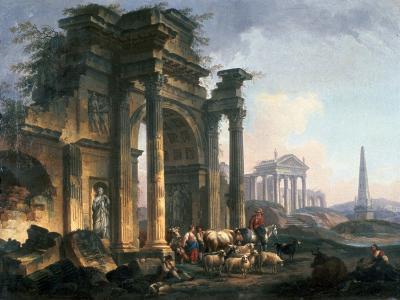 L'Arc De Triomphe, C1740-1807-Pierre Antoine De Machy-Giclee Print