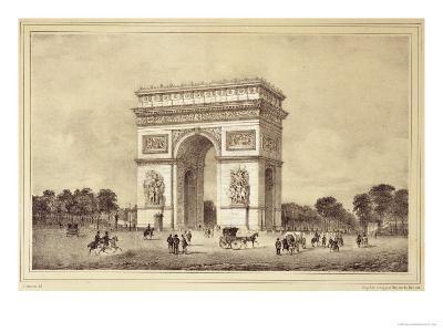 L'Arc De Triomphe, Paris-Jean Jacottet-Giclee Print