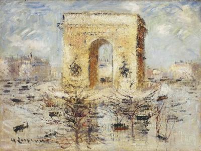 L'Arc de Triomphe, Place of the Star-Gustave Loiseau-Giclee Print