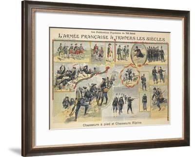 L'armée française à travers les siècles, chasseurs à pied et chasseurs alpins--Framed Giclee Print