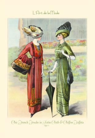 L'Art de la Mode: Chic French Frocks in Satin Cloth and Chiffon Taffeta