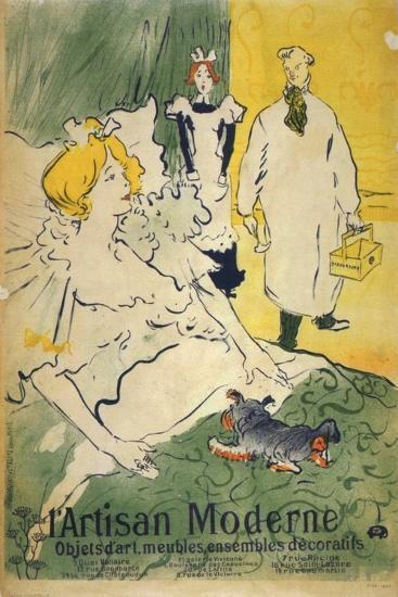 L'Artisan Moderne (1895)-Henri de Toulouse-Lautrec-Art Print