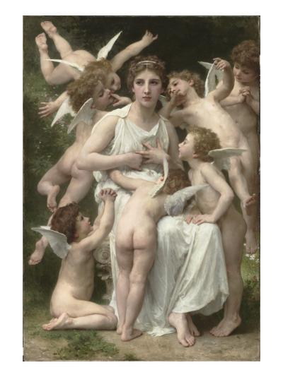 L'Assaut-William Adolphe Bouguereau-Giclee Print