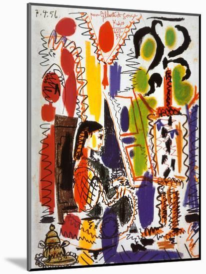 L'Atelier a Cannes-Pablo Picasso-Mounted Art Print