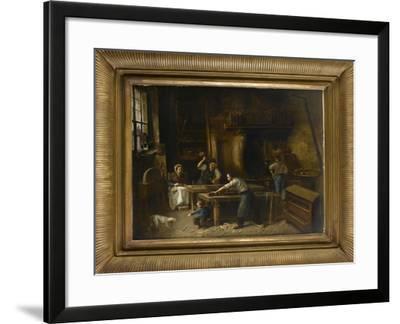 L'atelier du menuisier--Framed Giclee Print