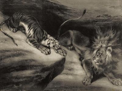 L'attaque du tigre-Louis Boulanger-Giclee Print