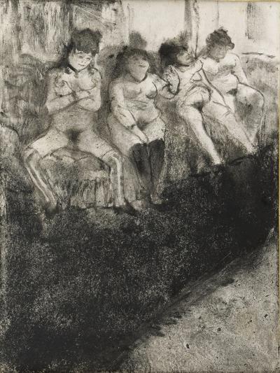 L'attente (seconde version)-Edgar Degas-Giclee Print