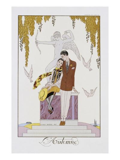 L'Automne-Georges Barbier-Photographic Print