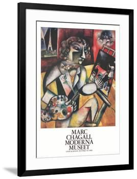 L'Autoportrait Aux Sept Doigts-Marc Chagall-Framed Collectable Print