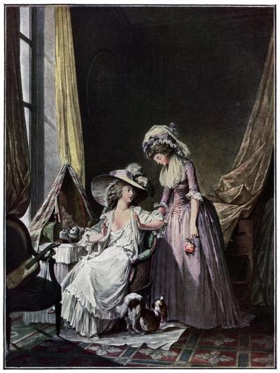 L'Aveu Difficile, 1786-Jean-François Janinet-Giclee Print