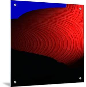 Abstract Image of Red Swirls by L.B.