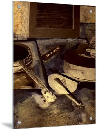 Abstract Still Life of Banjo and Guitar