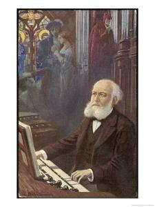 Charles Gounod French Musician and Composer Depicted Composing His Opera Faust by L. Balestrieri