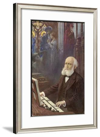 Charles Gounod French Musician and Composer Depicted Composing His Opera Faust