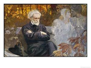 Giuseppe Verdi Composing by L. Balestrieri