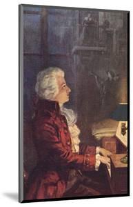 Wolfgang Amadeus Mozart Austrian Composer by L. Balestrieri