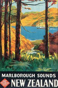 Marlborough Sounds, New Zealand by L^ C^ Mitchell