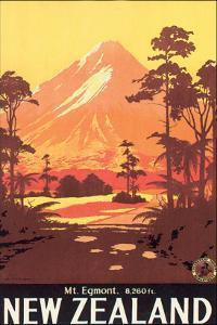New Zealand, Mt. Egmont by L^ C^ Mitchell