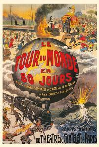 Around the World in 80 Days (Le Tour du Monde en 80 Jours) - Jules Verne - Théâtre du Châtelet by L. Charbonnier