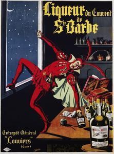 Liqueur Du Convent De Ste. Barbe Poster by L. Conchon
