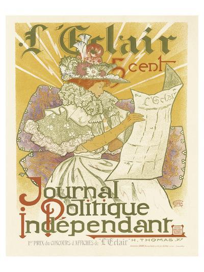 L'Eclair, Journal Politique Independent-H^ Thomas-Art Print