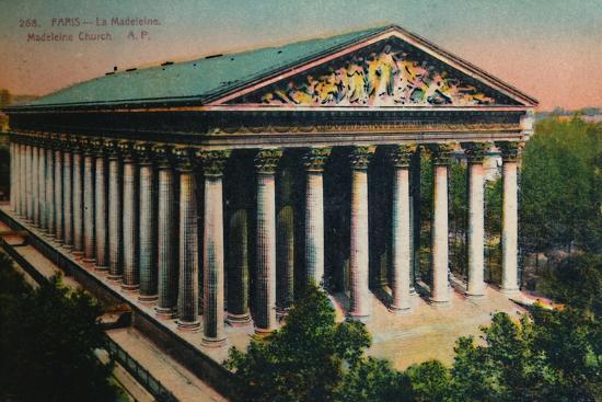 L'église de la Madeleine, Paris, c1920-Unknown-Giclee Print