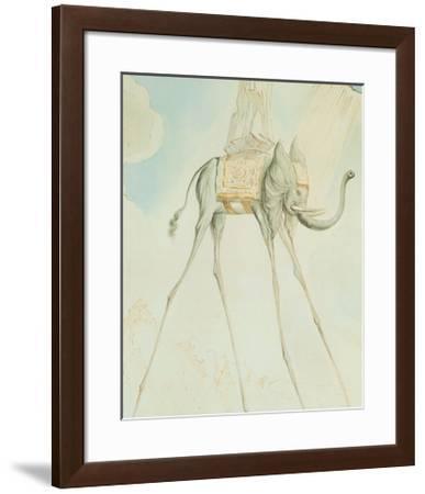 L'Elephante Giraffe-Salvador Dal?-Framed Art Print