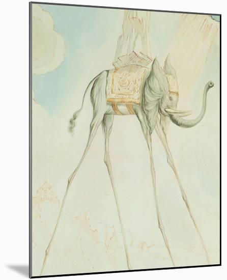 L'Elephante Giraffe-Salvador Dal?-Mounted Art Print