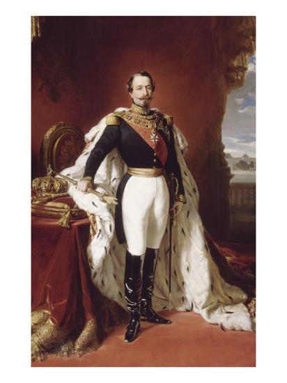 L'empereur Napoléon III (1808-1873) en pied-Franz Xaver Winterhalter-Giclee Print
