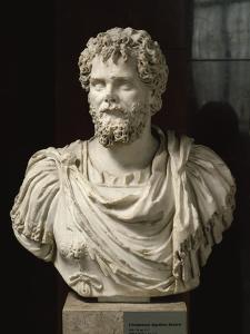 L'empereur Septime Sévère (empereur de 193-211 ap jc), buste cuirassé