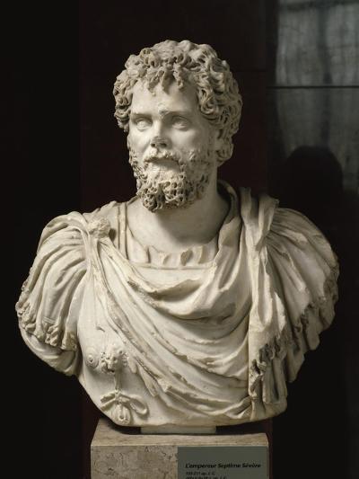 L'empereur Septime Sévère (empereur de 193-211 ap jc), buste cuirassé--Giclee Print