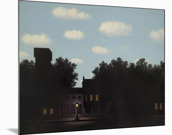 L'Empire des Lumieres-Rene Magritte-Mounted Art Print