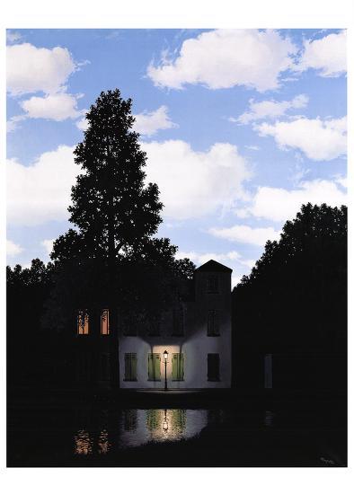 L'Empire des Lumieres-Rene Magritte-Art Print