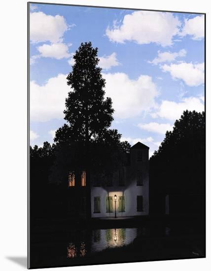 L'Empire des Lumieres-Rene Magritte-Mounted Art Print