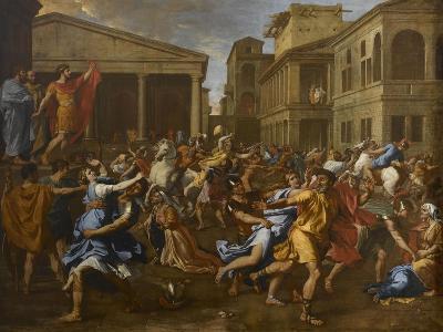 L'enlèvement des Sabines-Nicolas Poussin-Giclee Print