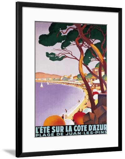 L'Ete sur la Cote d'azur-Roger Broders-Framed Giclee Print