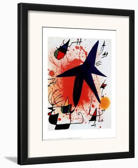 L'Etoile Bleue-Joan Miró-Framed Art Print