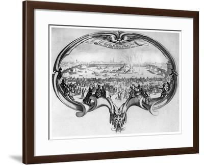 L'Eventail, 1619-Jacques Callot-Framed Giclee Print