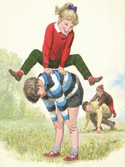 L For Leapfrog-Clive Uptton-Giclee Print