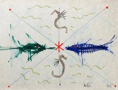 L'?ge du verseau : poissons et hyppo-Jean Cocteau-Premium Edition