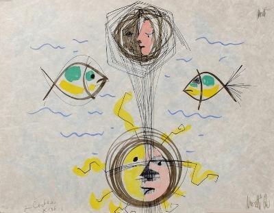 L'?ge du verseau : visages et poissons-Jean Cocteau-Premium Edition