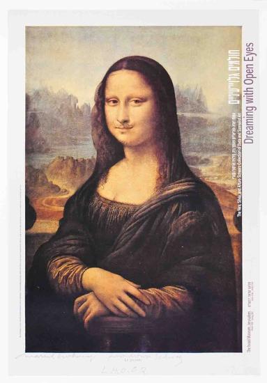 L.H.O.O.Q. (Mona Lisa)-Marcel Duchamp-Art Print