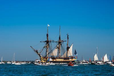 L'Hermione ship in the estuary of Charente, Charente-Maritime, Poitou-Charentes, France--Photographic Print