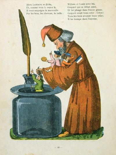 L'Histoire Des Enfants Noirs' from the French Translation of Hoffmann's 'Struwelpeter' Made by Trim-Heinrich Hoffmann-Giclee Print