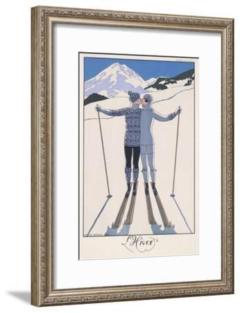 L'Hiver (Winter)-Georges Barbier-Framed Premium Giclee Print