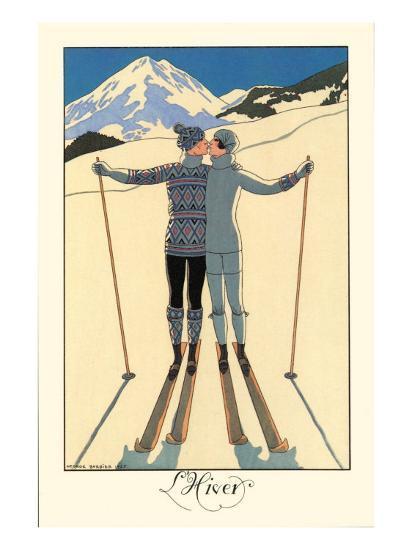 L'Hiver-Georges Barbier-Premium Giclee Print